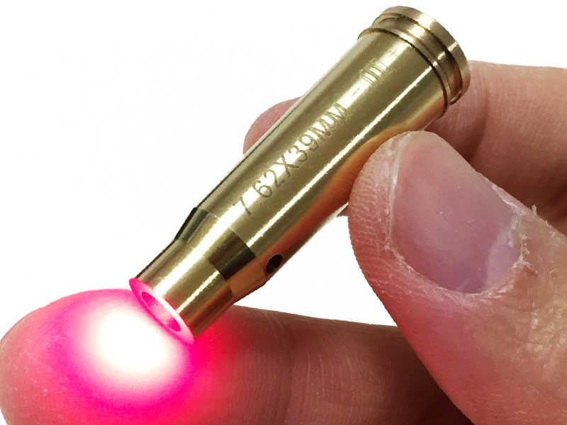 Armiyo 戦術銃ボアサイト CAL: 。 7.62 × 39 ミリメートルカートリッジ赤色レーザー真鍮ライフル狩猟アクセサリーいいえ電池