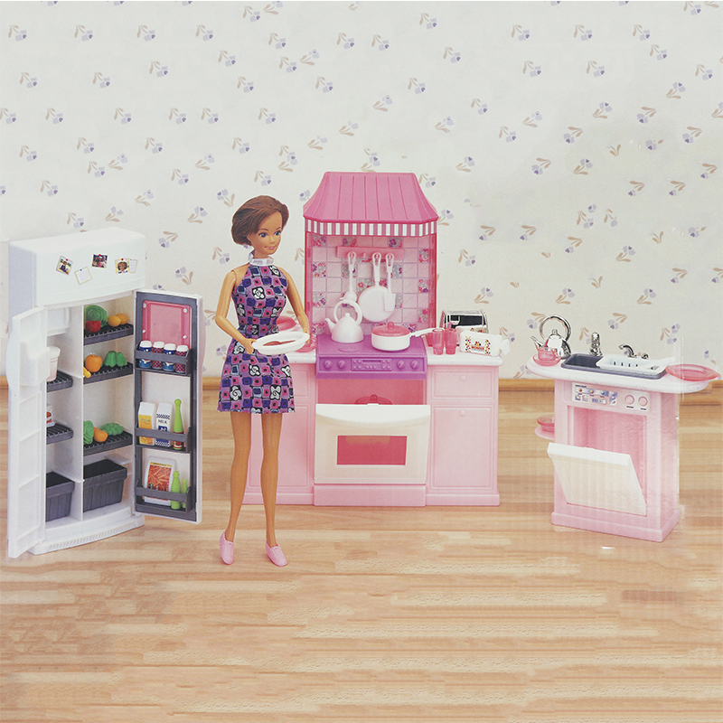 Миниатюрная мебель My Fancy Life Deluxe кухня для куклы Барби дом Лучший подарок игрушки для девочек Бесплатная доставка