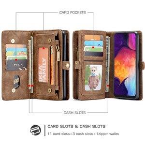 Image 5 - עבור Funda Samsung Galaxy A50 ארנק מקרה להסרה 2 ב 1 אמיתי עור מגנטי Flip כיסוי מקרה עבור סמסונג A50 a40 A30 A20