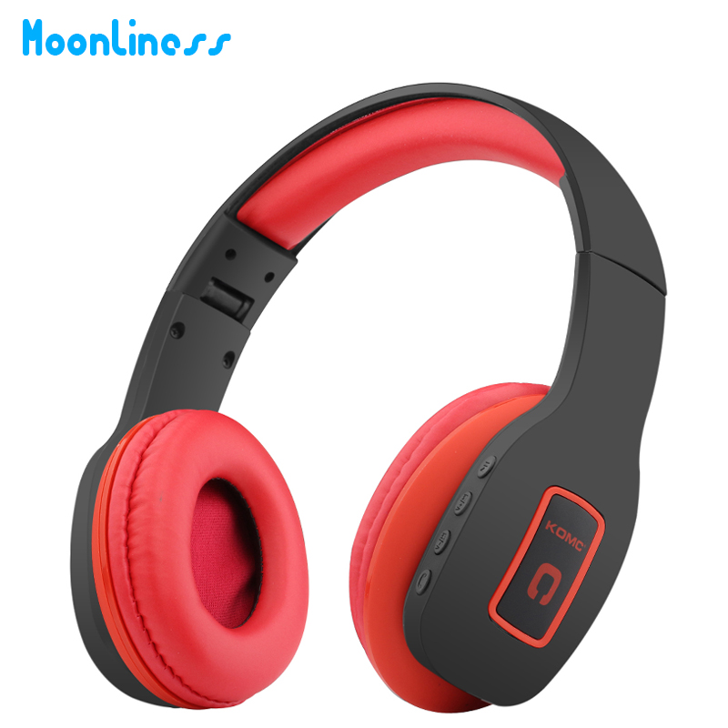 Moonliness Wireless Bluetooth Headphone Headset Support TF Card Portable HIFI Stereo Over-Ear Comfortable with MIC for iphone 20w bluetooth4 1 speaker wireless hifi portable feature fashionable appearance design and high 5000mah support tf card with mic