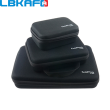 LBKAFA עבור Gopro 3 גודל ניילון נייד אחסון תיבת אוסף תיק מקרה עבור GoPro גיבור 8 7 6 5 SJCAM SJ4000 SJ5000 SJ6 SJ8 יי DJI