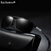 Polarized sun shades for males black steel body fishing solar glasses male outside top quality driving with field