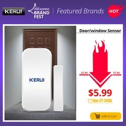 Oryginalny KERUI D025 433 MHz bezprzewodowy okno magnes na drzwi czujnik dla domu bezprzewodowy system alarmowy