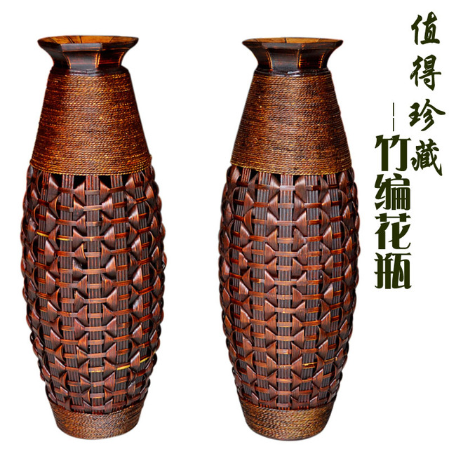 Pure Handmade Bamboo Flower Implements European Living Room Large