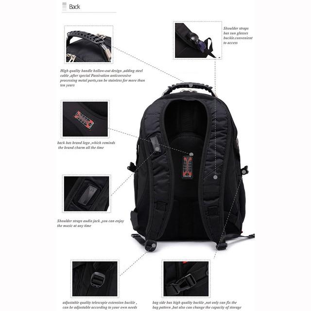 Crossten Swiss Multifunctional Waterproof Laptop Backpack for 17 5
