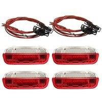4 Pcs/Set Door Warning Light With Cable For VW/Volkswagen /Golf 5 Golf 6 Jetta MK5 MK6 CC /Tiguan /Passat B6