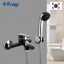 Frap Black Bathroom Shower Brass Chrome Wall Mounted Faucet Head sets black bath shower mixer bathtub faucet F3242