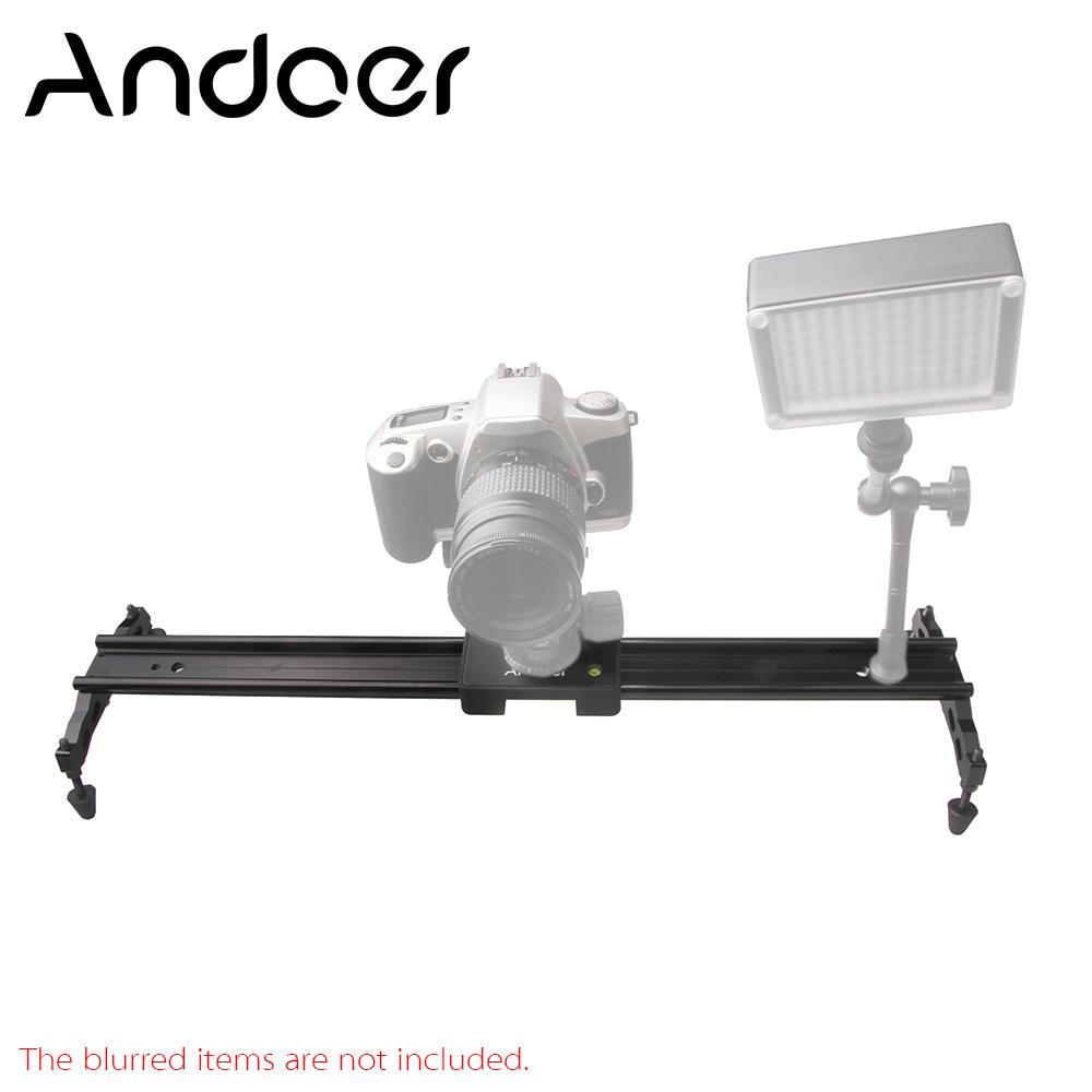 """Prix pour Andoer 60 cm/24 """"vidéo Piste Dolly Caméra Curseur Stabilisateur Système En Alliage D'aluminium pour Canon Nikon Sony DSLR Caméscopes"""