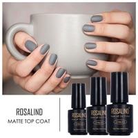 Rosalind 1pcs Matt Top Coat Nail Art UV Gel Polish 7ml Matte Top Coat LED UV Soak Off Gel Nail Polish