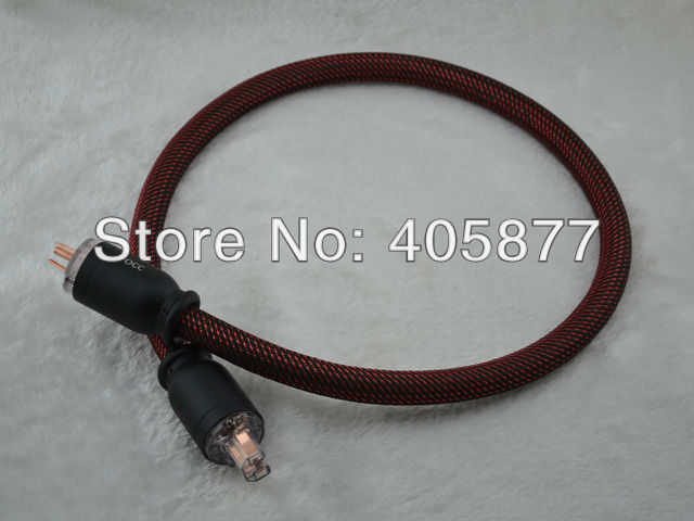 цена на Viborg Silver plated Power cable with Copper Color OCC US Power Connector 1.5M