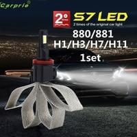 100 NEW Car Light 1set 880 881 H1 H3 H7 H11 Car LED Headlight Light Bulb
