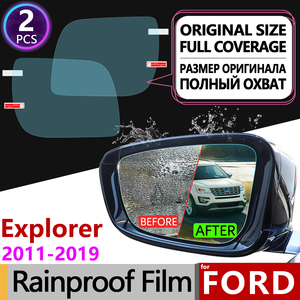 <font><b>for</b></font> <font><b>Ford</b></font> <font><b>Explorer</b></font> 2011~2019 U502 MK5 Full Cover Anti Fog Film Rearview <font><b>Mirror</b></font> Rainproof Anti-fog Films Car <font><b>Accessories</b></font> 2014 2016 image
