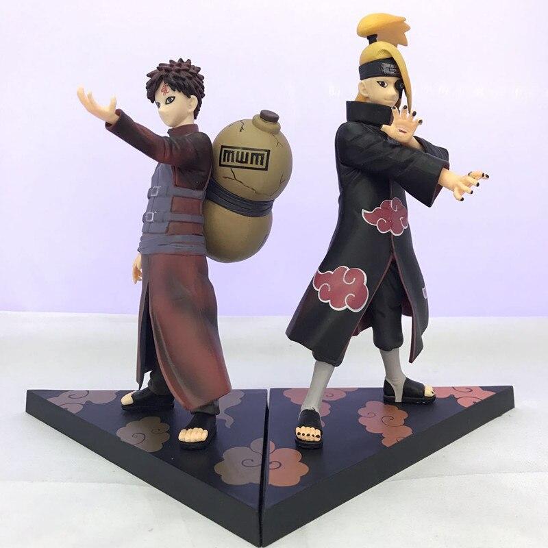 Anime Naruto Gaara Deidara PVC Action Figure Collectible Model doll toy 17cm (2pcs/set)Anime Naruto Gaara Deidara PVC Action Figure Collectible Model doll toy 17cm (2pcs/set)