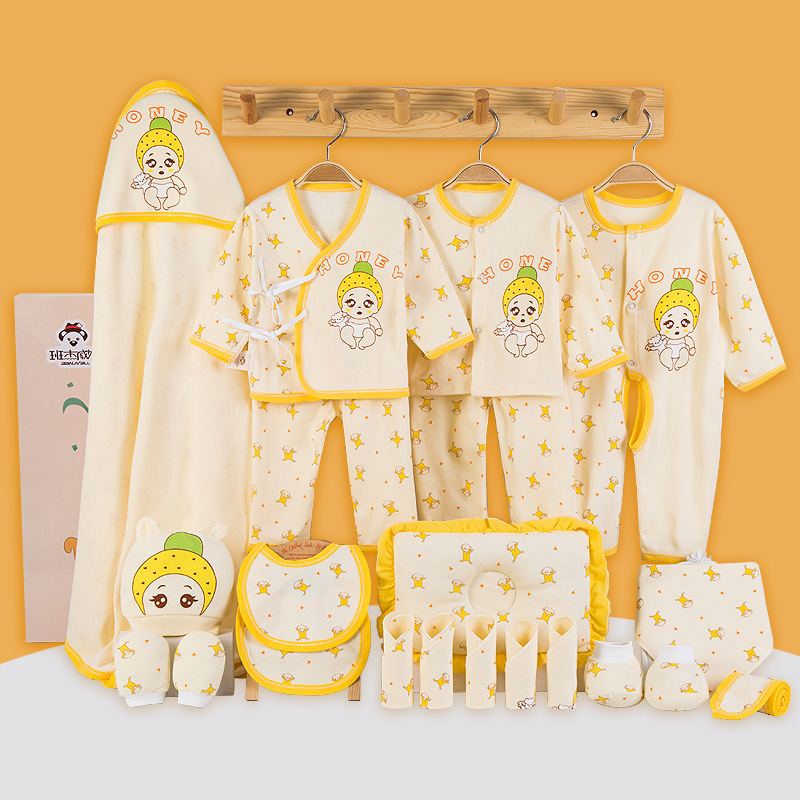 100% Cotton 21 pieces Baby Gift Set Autumn Newborn Baby Underwear Sets Infant Clothing Set Pink Yellow Blue100% Cotton 21 pieces Baby Gift Set Autumn Newborn Baby Underwear Sets Infant Clothing Set Pink Yellow Blue