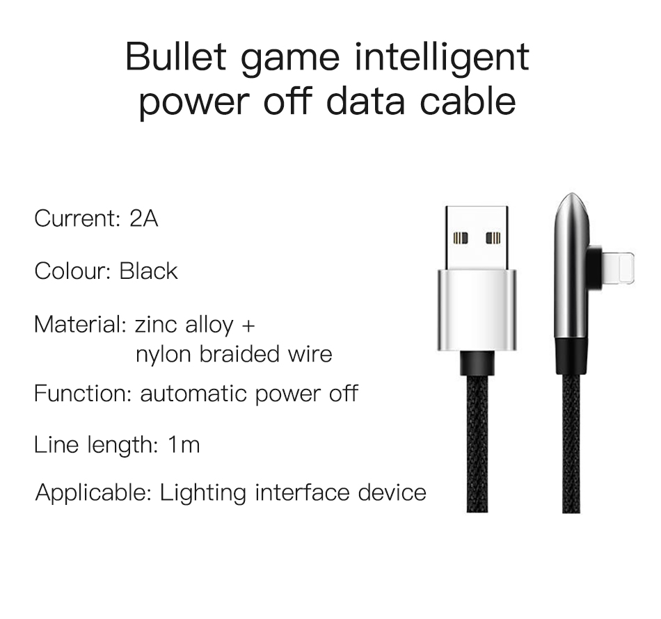 !ACCEZZ USB Cable For Apple iPhone X XS MAX XR 8 7 6 6S 5 5S Plus IOS 10 11 12 Lighting Charger Bullet Style Data USB Cable Cord (11)