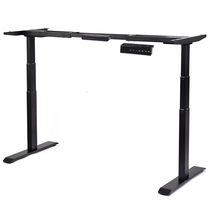 Electric Height Adjustable Standing Desk Frame Dual Motor System Solid Steel Frame Construction Frame With Large Weight Capacity