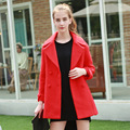 Europe and the United States women's 2016 new winter woolen cashmere woolen coat ladies long wool coat slim girl