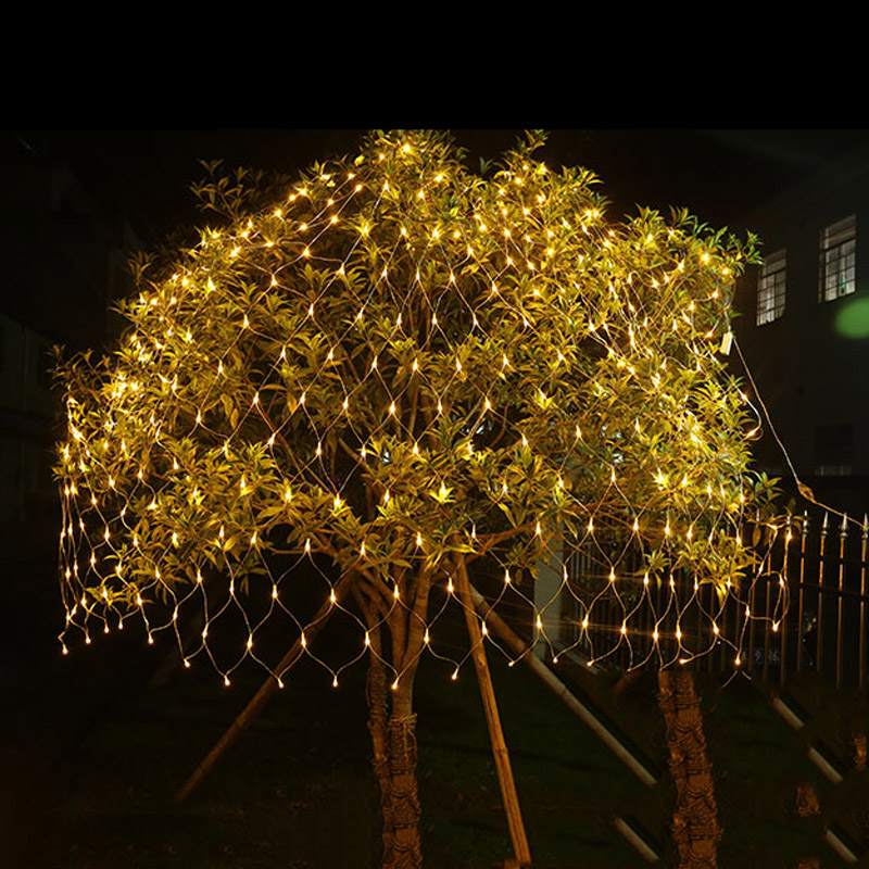 1,5m * 1,5m 3m * 2m 6x4M LED Net Fairy String Light Jul Bröllopsfest - Festlig belysning - Foto 5