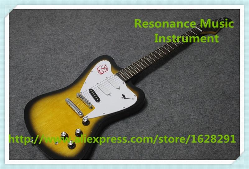 Guitares électriques chinoises Vintage Sunburst finition Suneye Firebird gaucher disponibles