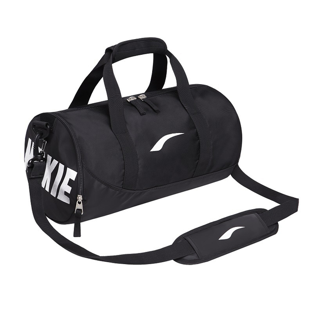 30b0e61f9ba0 2018 Large Light Cylinder Gym Bag for Women Portable Fitness bag Waterproof  Nylon Sport Bag Men for Gym with Night Lights Logo