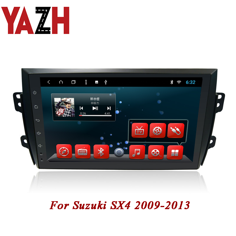 YAZH 2 din car stereo gps navigation for <font><b>Suzuki</b></font> <font><b>SX4</b></font> <font><b>2009</b></font> 2010 2011 2012 2013 multimedia radio with Android 8 Core no dvd player image