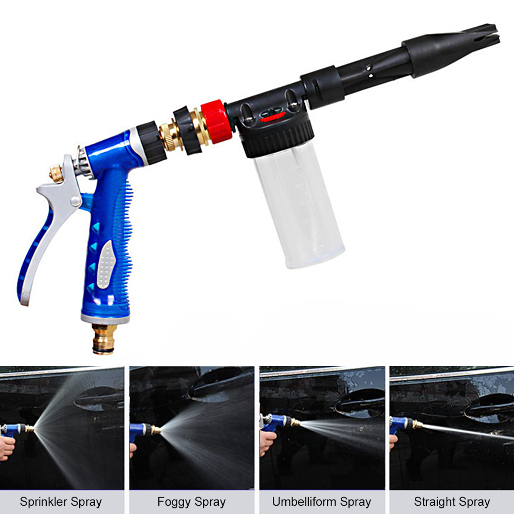 US $14 77 31% OFF|Multifunctional Portable Snow Foam Car Wash Spray Gun  Lance Uses Hose Pipe Support to Spray Foam or Spray Water-in Car Washer  from