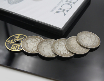 SICK By Ponta The Smith (Gimmick And DVD) And 6 Coins Ancient Coins Set Magic Tricks Close-Up Stage Street Magic Toys