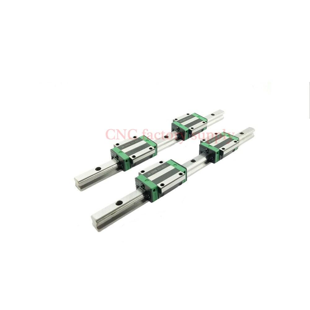 2pcs linear rail HGR20 L1500mm cnc parts and 4pcs HGW20CA linear guide rails block cnc parts2pcs linear rail HGR20 L1500mm cnc parts and 4pcs HGW20CA linear guide rails block cnc parts