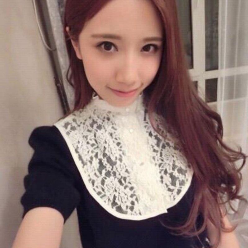 Women Shirts Lapel False Fake Detachable Collars Lace Floral Ties Neck Tie Bowties Shirt Collar For Women Clothing Accessories