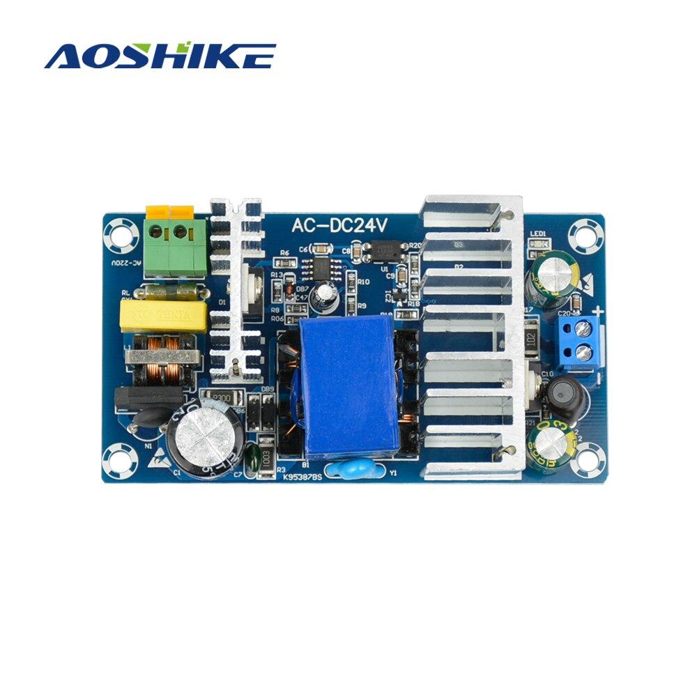 Aoshike AC110V 220V to 24V DC 6A 150W Industrial Power Switching Supply Converter Module 5pcs white case 90 240v 110 220v ac to 12v step down dc converter led switching power supply module 5w 450ma