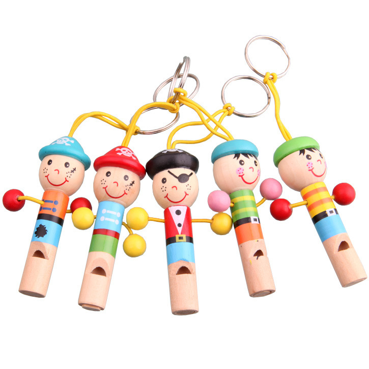 New Cartoon For Baby Wooden Toy Mini Whistle Pirates Developmental Toy Musical decoration Toys Gift