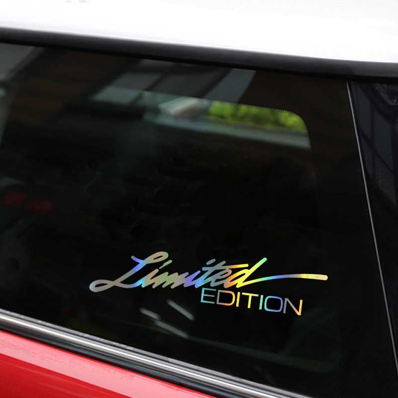Auto Styling 16*3.8cm Vinyl LIMITED EDITION Auto Stickers en Decals Creative Grappige Koolstofvezel 3D Stickers Op auto Auto Stickers