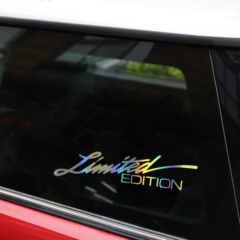 Автомобильный Стайлинг, 16*3,8 см, виниловые автомобильные наклейки ограниченного выпуска и наклейки, креативные Забавные 3D наклейки из углер...