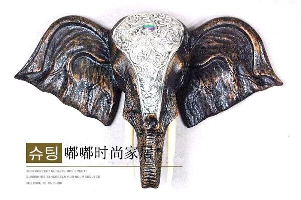 Style maison de ville chanceux reine asie du sud-est Thai éléphant tête murale décoration murale artisanat ouverture cadeaux