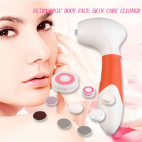 Multifunction Korean Style Facia Beauty Cleaning Tools Devices Electric Ultrasonic Body Face Skin Care Wash Brush