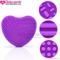 Dolovemk Heart Shape Cosmetic Silicone Cleaning Make Up Washing Brush Foundation Powder Makeup Brushes Cleaning Tools