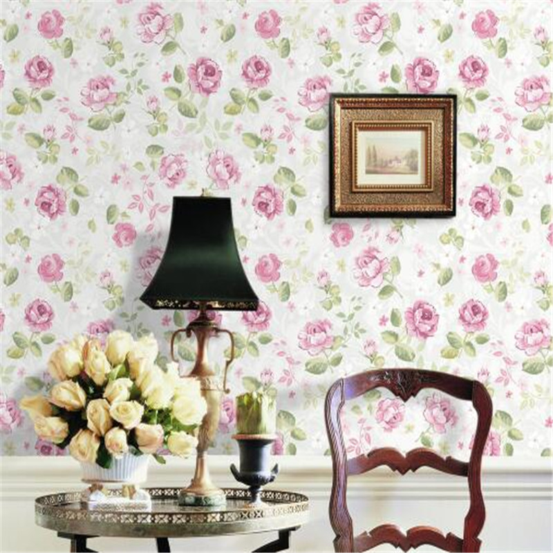 Fantasy Home Decor: Classical Wallpaper Roll Purple Rose Wall Papers Home