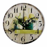 12 Inch Wall Clock Vintage Home Decor Mute 12888 Clock Movement Art Wall Decorations Living Room