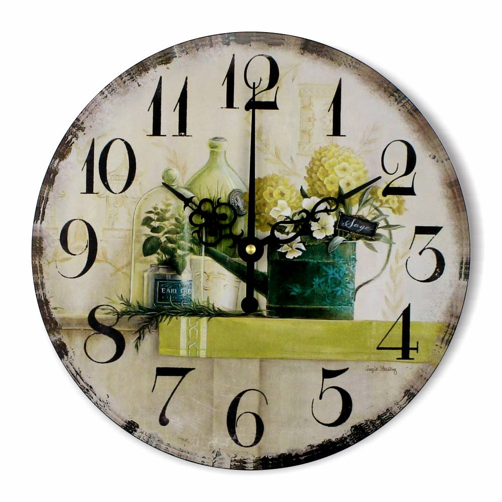 vintage large decorative wall clock absolutely silent decoration living room watch wall clocks. Black Bedroom Furniture Sets. Home Design Ideas