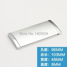 Расстояние Между отверстиями 96 мм прямоугольной формы песок белый цвет мебели сплава цинка шкаф ящик скрытая ручка