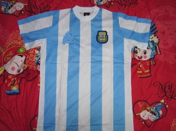 Classic soccer Jersey The 1990 world cup Argentina Diego Maradona