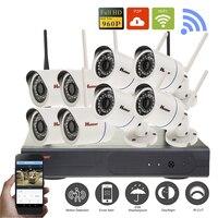 8CH Wireless NVR CCTV System 960P IP Camera Wifi Outdoor Waterproof IR Night Vision Home Video