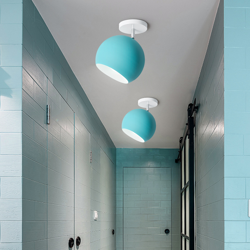 modern led ceiling lamps Macarons bedroom lamp simple after the modern study balcony porch lamp lindemann