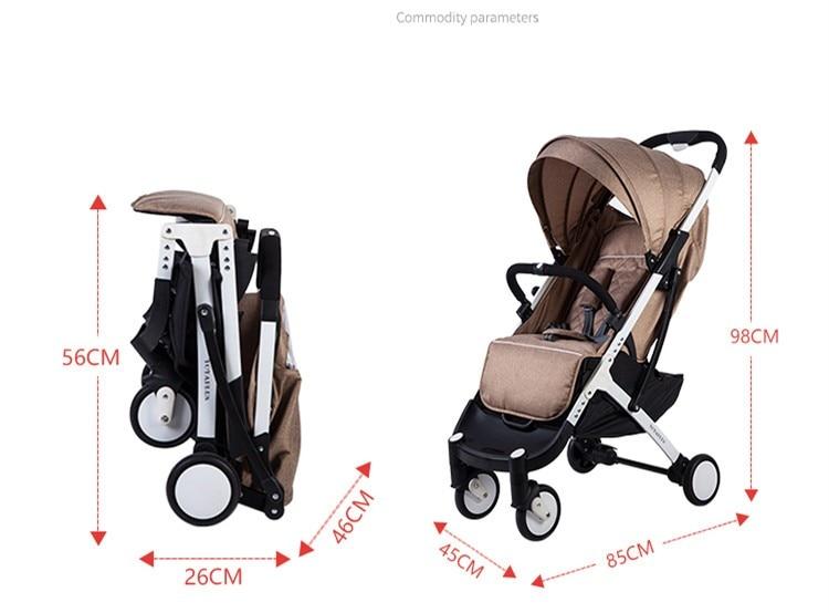 YOYA PLUS wózków dziecięcych ultra lekkie składane mogą usiąść może leżeć wysokiej krajobrazu parasol wózek dla dziecka latem i zimą 16