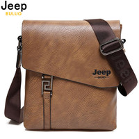 JEEP BULUO Fashion Men Bags Waterproof Cow Split Leather Messenger Bag Business Briefcase Crossbody Bags Male