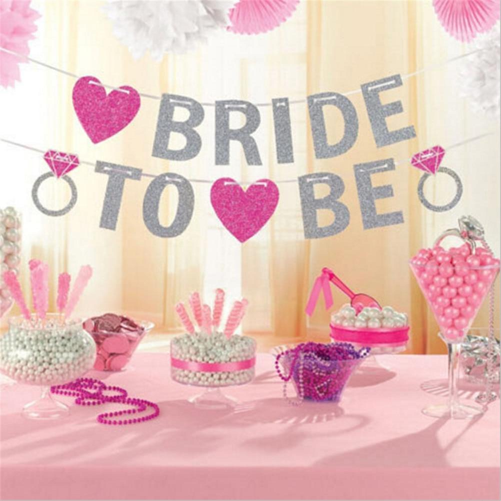 Hot Sale Silver Glitter Garland Wedding Bridal Shower Bachelorette ...