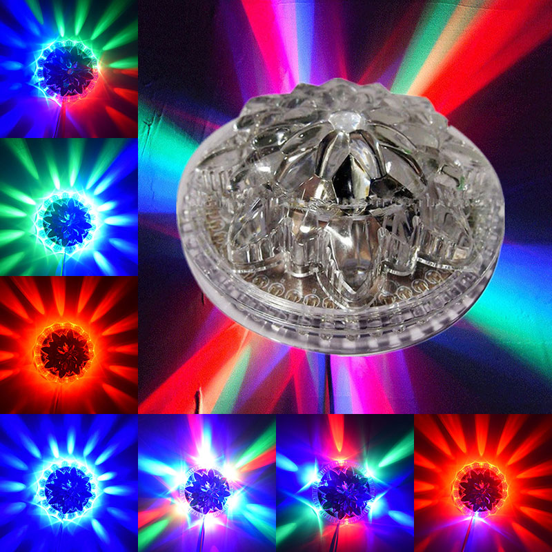 7 Color Sunflower Led Stage Light Rgb White Case 48led For Dj Disco Club Family Party/disco Dj Stage Birthday Party Bar Ktv