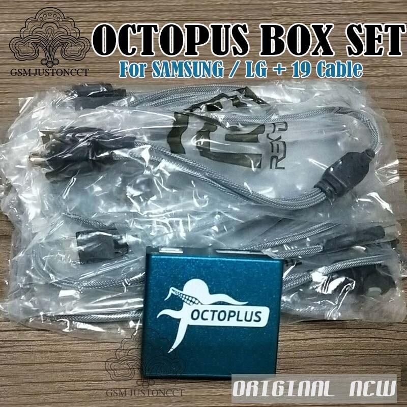 Boîte de pieuvre/boîte Octoplus entièrement activée pour LG et pour Samsung 19 câbles, y compris le jeu de câbles optimus, outil de déverrouillage et de réparation du Flash
