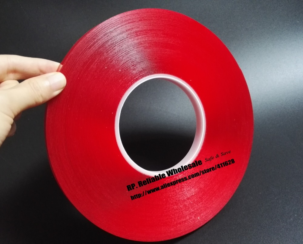 0.5mm Thick, 1x (10mm*33Meters) Transparent Double Coated Acrylic Glue Tape for Car Strip, Glass Joint 5x 5mm 33 meters 0 8mm double sided transparent acrylic glue adhesive tape for auto glass metal car track shim attachment