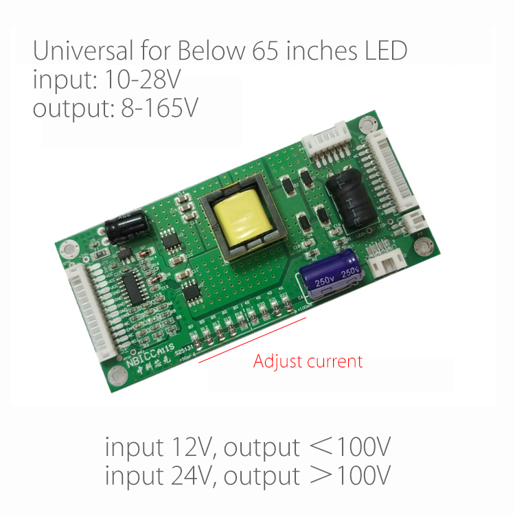 Below 65inch LED Backlight Lamp Driver Board LCD TV Constant Current Board Step Up Boost Board Universal Modified Plate